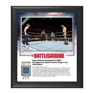 Dean Ambrose Battleground 2016 15 x 17 Framed Plaque w Ring Canvas
