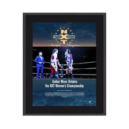 Ember Moon NXT TakeOver Philadelphia 2018 10 x 13 Commemorative Photo Plaque