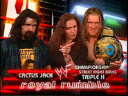 Royal Rumble 2000 Cactus Jack V Triple H w Stephanie McMahon