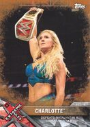 2017 WWE Road to WrestleMania Trading Cards (Topps) Charlotte 87