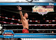 2019 WWE Road to WrestleMania Trading Cards (Topps) Shinsuke Nakamura 85