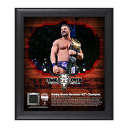 Bobby Roode NXT TakeOver San Antonio 15 x 17 Framed Plaque w Ring Canvas