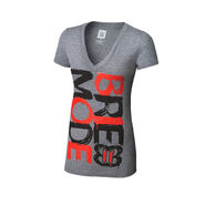Brie Bella Brie Mode Tri-Blend Women's V-Neck T-Shirt