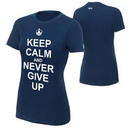 John Cena Keep Calm and Never Give Up Women's T-Shirt