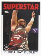 2016 WWE Heritage Wrestling Cards (Topps) Bubba Ray Dudley 8