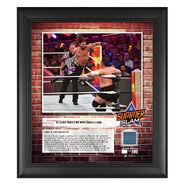 AJ Styles SummerSlam 2018 15 x 17 Framed Plaque w Ring Canvas