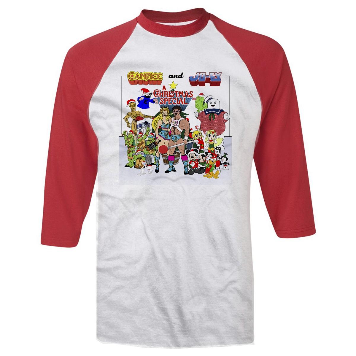 Candice & Joey Ugly Christmas Sweater Baseball T-Shirt | Pro ...