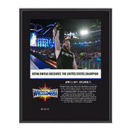 Kevin Owens WrestleMania 33 10 X 13 Commemorative Photo Plaque