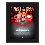 Miz & Maryse Hell in a Cell 2018 10 x 13 Commemorative Plaque