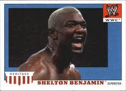 2008 WWE Heritage IV Trading Cards (Topps) Shelton Benjamin 46