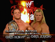 Chris Benoit vs. Chris Jericho Judgment Day 2000