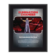 Matt Hardy Elimination Chamber 2018 10 x 13 Commemorative Photo Plaque