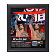 The Usos Royal Rumble 2018 15 x 17 Framed Plaque w Ring Canvas