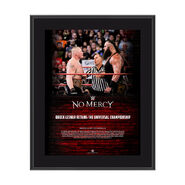 Brock Lesnar No Mercy 2017 10 x 13 Commemorative Photo Plaque