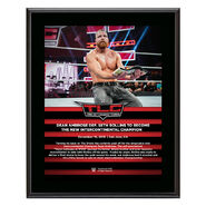 Dean Ambrose TLC 2018 10 x 13 Commemorative Plaque