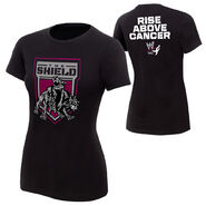 The Shield Rise Above Cancer womens T-Shirt