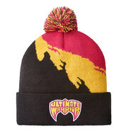 Ultimate Warrior Pom Knit Beanie Hat
