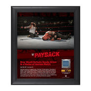 Bray Wyatt Payback 2017 15 x 17 Framed Plaque w Ring Canvas