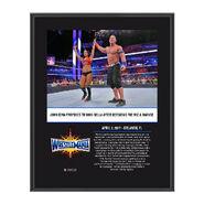 John Cena & Nikki Bella WrestleMania 33 10 X 13 Commemorative Photo Plaque