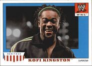 2008 WWE Heritage IV Trading Cards (Topps) Kofi Kingston 31