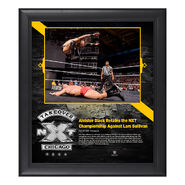 Aleister Black NXT TakeOver Chicago 15 x 17 Framed Plaque w Ring Canvas