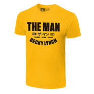 Becky Lynch The Man Est. 2018 Authentic Yellow T-Shirt
