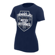 The Shield Justice Has Returned Women's Authentic T-Shirt