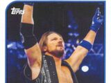 2018 WWE Heritage Wrestling Cards (Topps) AJ Styles (No.1)