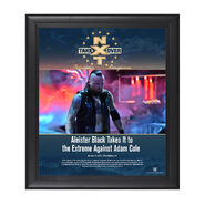 Aleister Black NXT TakeOver Philadelphia 2018 15 x 17 Framed Plaque