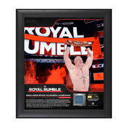 Brock Lesnar Royal Rumble 2018 15 x 17 Framed Plaque w Ring Canvas