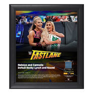 Carmella & Natalya FastLane 2018 15 x 17 Framed Plaque w Ring Canvas