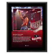 WrestleMania 36 Elias 10 x 13 Limited Edition Plaque