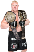 Brock lesnar world heavyweight champion by nibble t-d8i66u5