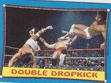 1987 WWF Wrestling Cards (Topps) Double Dropkick (No.33)