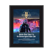 Aleister Black NXT TakeOver Philadelphia 2018 10 x 13 Commemorative Photo Plaque