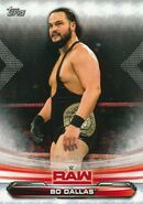 2019 WWE Raw Wrestling Cards (Topps) Bo Dallas 8