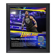 Roman Reigns FastLane 2017 15 x 17 Framed Plaque w Ring Canvas
