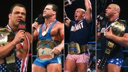 Grand Slam winners Kurt Angle