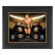 Randy Orton Grand Slam Champion 23 x 27 Framed Plaque w Ring Canvas