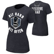 Roman Reigns Hit Hard, Hit Often Women's Authentic T-Shirt