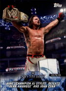 2018 WWE Road to Wrestlemania Trading Cards (Topps) AJ Styles 56