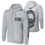 Daniel Bryan Respect The Beard Full-Zip Hoodie Sweatshirt