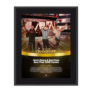Kevin Owens & Sami Zayn Clash of Champions 2017 10 x 13 Commemorative Photo Plaque