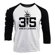 WrestleMania 35 Torch Sportiqe Raglan T-Shirt