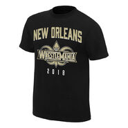 WrestleMania 34 New Orleans Black Jersey T-Shirt