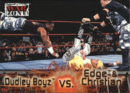 2001 WWF RAW Is War (Fleer) Dudley Boyz vs. Edge & Christian 65