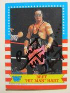 1987 WWF Wrestling Cards (Topps) Bret Hart 1