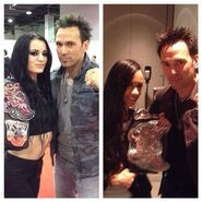 Jason David Frank with Paige and AJ while champs
