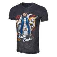 Sasha Banks Legit Boss Mineral Wash T-Shirt