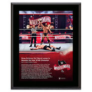 WrestleMania 36 Drew McIntyre 10 x 13 Limited Edition Plaque